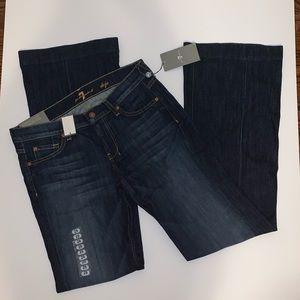 7FAM Dojo flare leg jeans trouser
